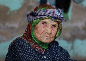 عکس/ پیرترین زن سوریه