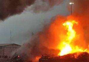 آتشسوزی گسترده در خور گناوه +فیلم