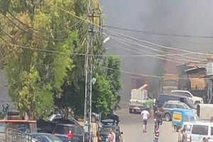 وقوع آتش سوزی گسترده در جنوب لبنان