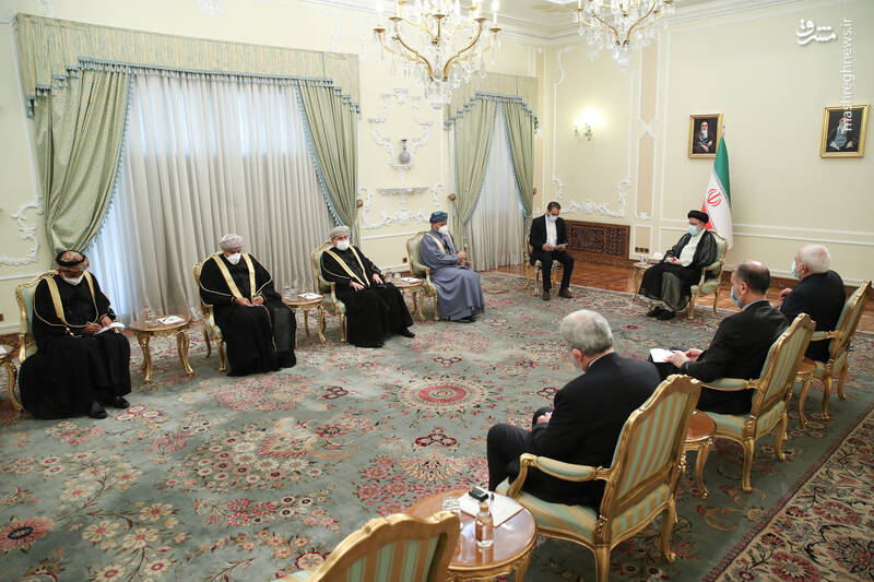 دیدار وزیر امور خارجه عمان با رئیسی