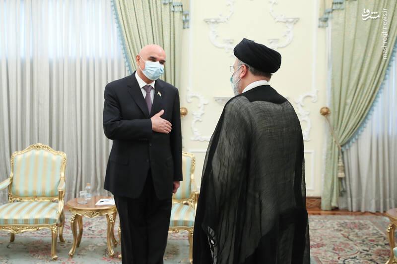 دیدار رییس مجلس تاجیکستان با رئیسی
