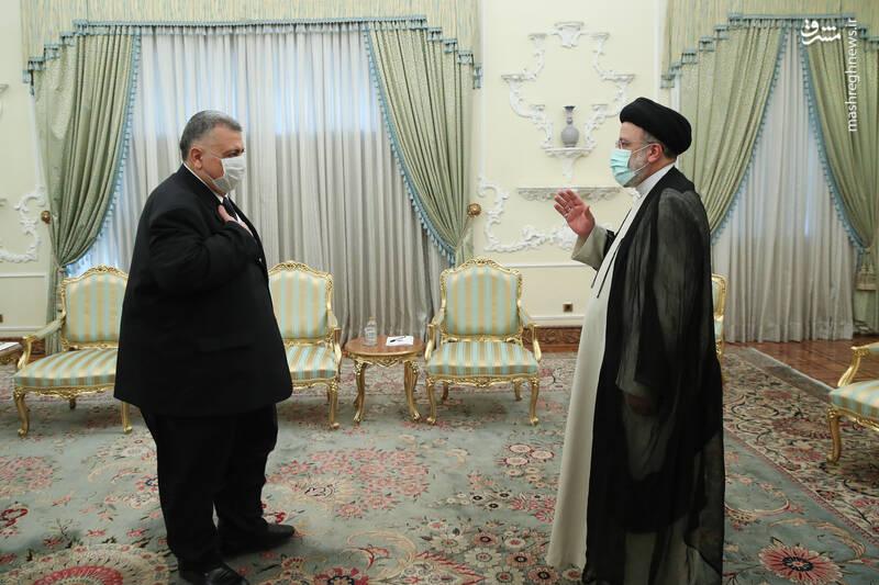 دیدار رییس مجلس سوریه با رئیسی