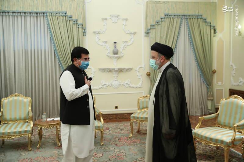 دیدار رییس مجلس پاکستان با رئیسی