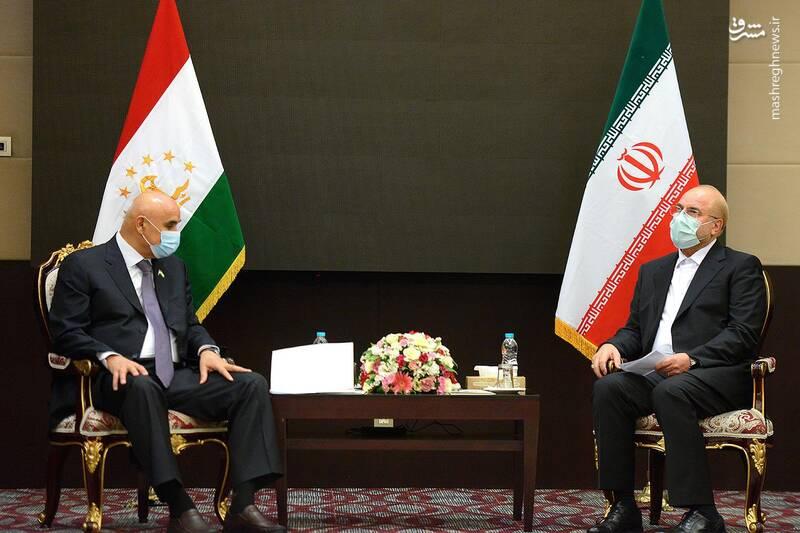 دیدار رئیس مجلس تاجیکستان با قالیباف