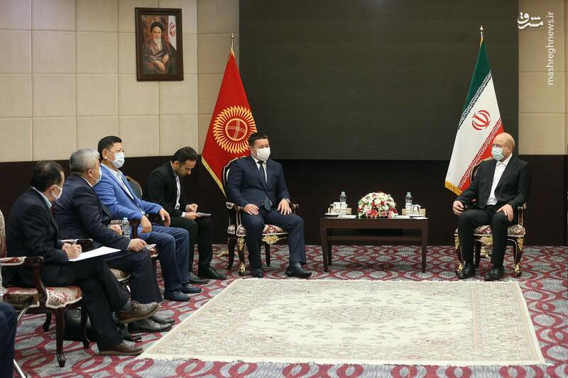 دیدار رئیس مجلس قرقیزستان با قالیباف
