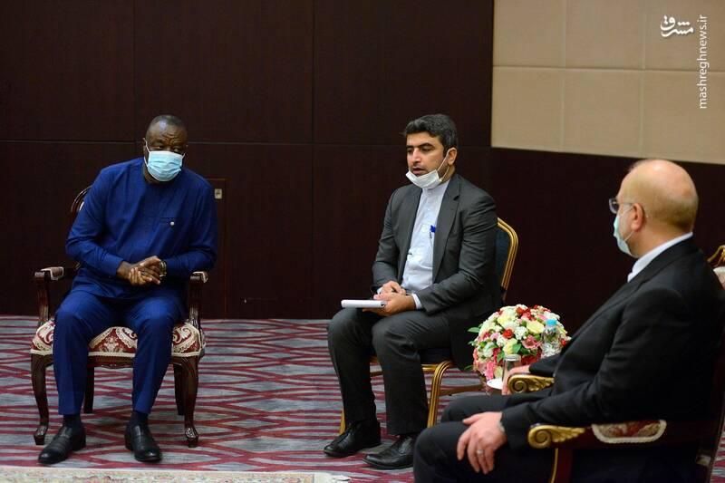دیدار رئیس مجلس غنا با قالیباف