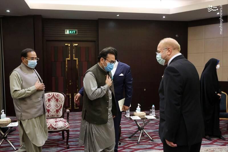 دیدار رئیس مجلس سنای پاکستان با قالیباف