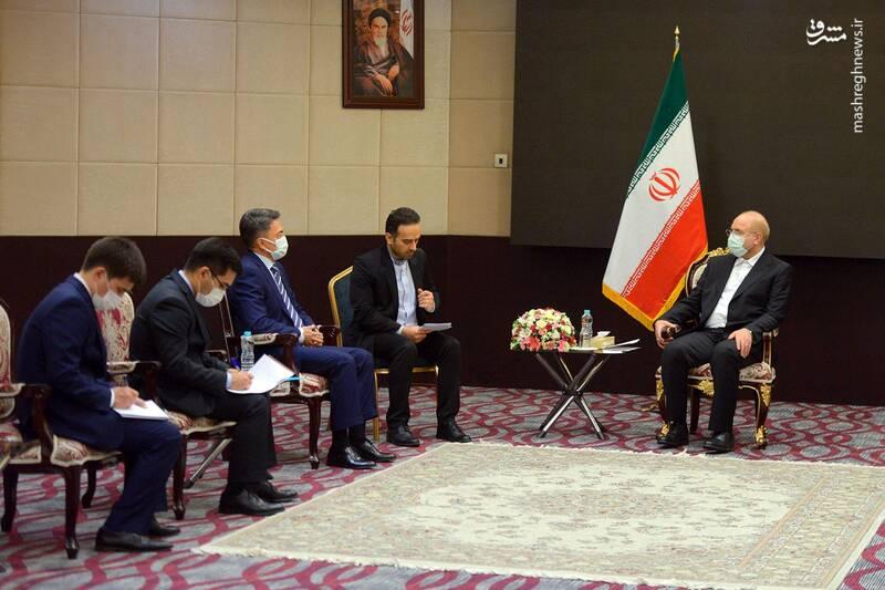 دیدار نایب رئیس مجلس قزاقستان با قالیباف