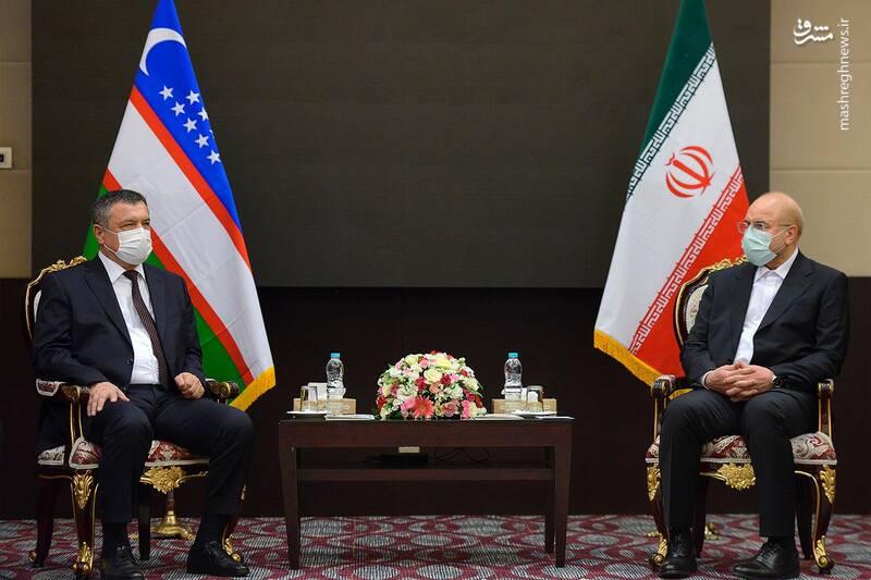 دیدار رئیس مجلس ازبکستان با قالیباف