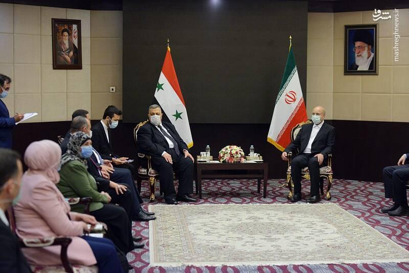 دیدار رئیس مجلس سوریه با قالیباف