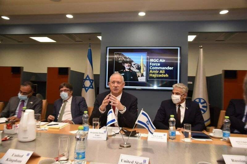 تصویر سردار حاجیزاده در اتاق جلسه سران صهیونیست