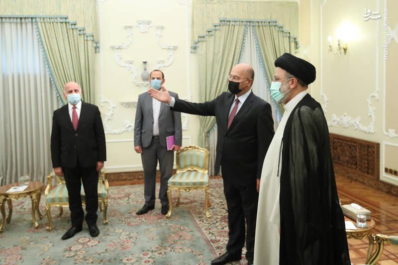 دیدار رییس جمهور عراق با رئیسی