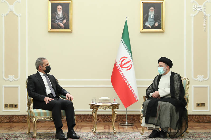 دیدار رئیس شورای عالی قضایی عراق با رئیسی