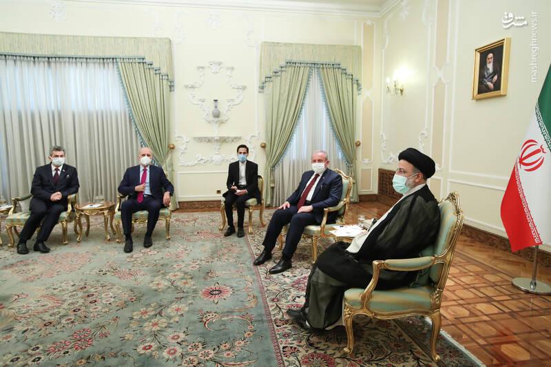 دیدار رئیس مجلس ملی ترکیه با رئیسی