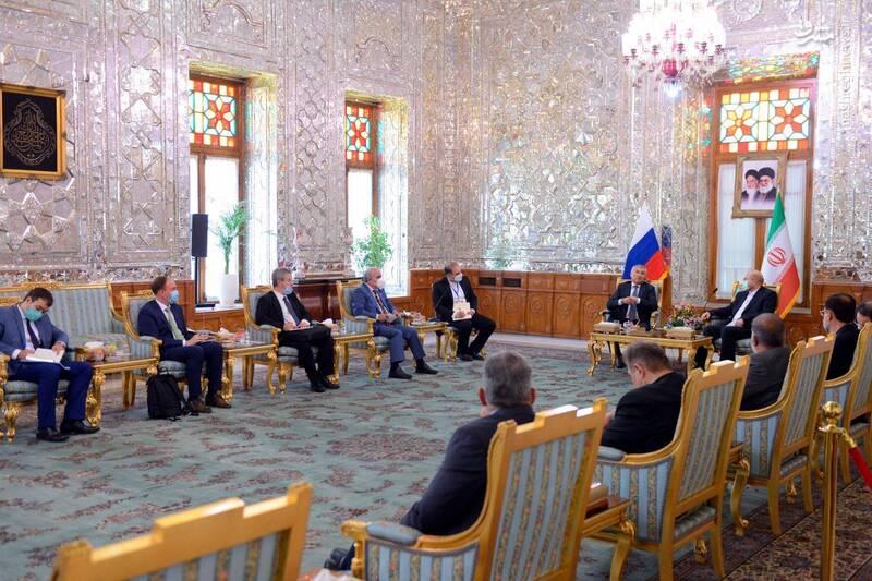 دیدار رئیس مجلس روسیه با قالیباف