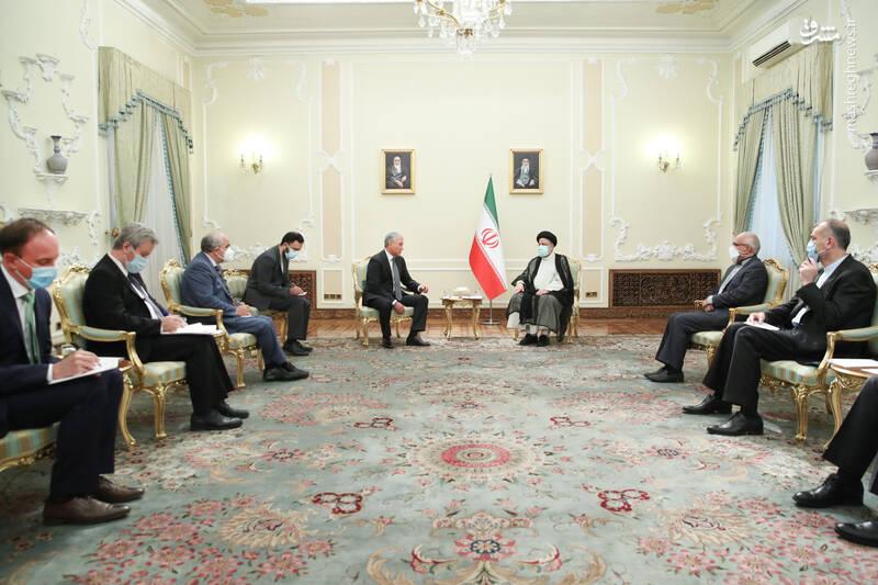 دیدار رئیس دومای دولتی روسیه با رئیسی