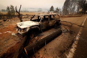 فیلم/ آتش سوزی شهر کوهستانی کالیفرنیا را خاکستر کرد