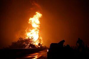 تصاویر آخرالزمانی از آتشسوزی یونان