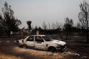 آتشسوزی گسترده یونان در روز پنجم؛ یک شهر کاملا در آتش سوخت