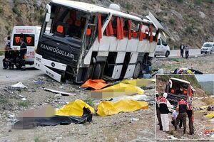 تصادف اتوبوس با کامیون در استان «مانیسا» ترکیه