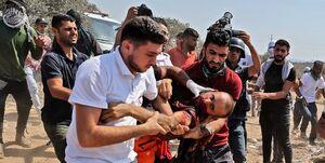۱ شهید و دهها زخمی در حمله نظامیان صهیونیست به راهپیمایی فلسطینیان در جنوب نابلس