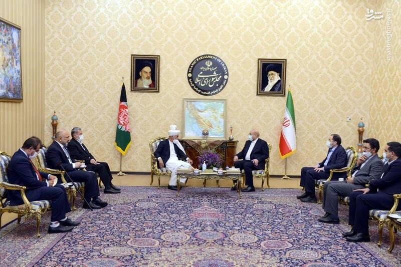 دیدار رئیس جمهور افغانستان با قالیباف