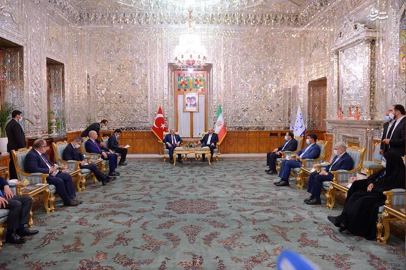 دیدار رییس مجلس ترکیه با قالیباف
