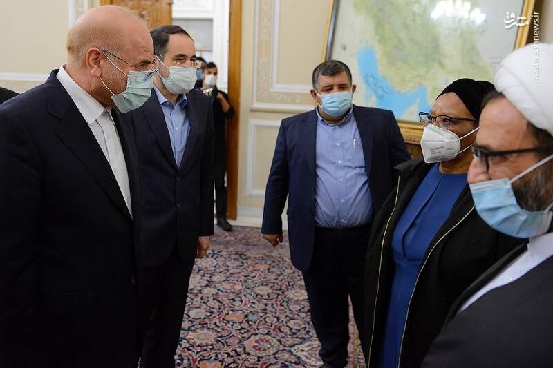 دیدار رئیس مجلس بلاروس با قالیباف