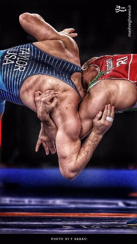عکسی زیبا از جدال حسن یزدانی و دیویدتیلور