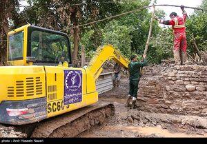 عکس/ امدادرسانی سپاه به سیل زدگان در الموت