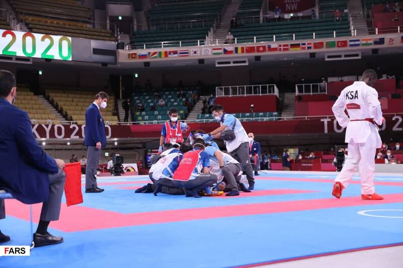 گزارش تصویری از لحظه مصدومیت شدید کاراتهکای طلایی ایران