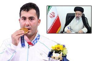 رئیس جمهور کسب مدال طلای المپیک را به سجاد گنجزاده تبریک گفت