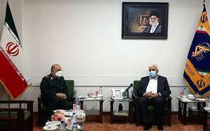 عکس/ دیدار فرمانده حشدالشعبی با سرلشکر سلامی