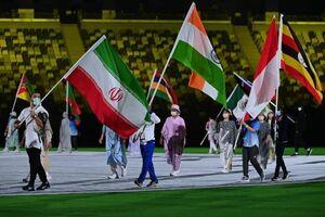 تصویری از پرچمدار ایران در مراسم اختتامیه المپیک