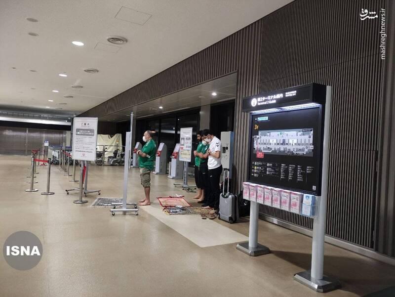 عکس/ حرکت زیبای ورزشکاران الجزایری در فرودگاه توکیو