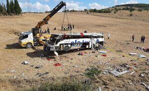 عکس/ واژگونی مرگبار اتوبوس مسافربری در ترکیه