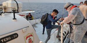 نجات جان ۱۳۴ پناهجو در دریای اژه توسط گارد ساحلی ترکیه