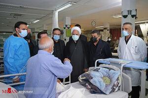 عکس/ بازدید اژهای از بیمارستان امام خمینی کرج