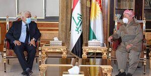 دیدار رئیس سازمان حشدالشعبی و مسعود بارزانی