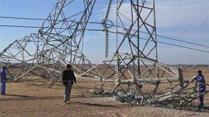 حمله تروریستی به دکلهای برق در کربلا