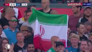 فیلم/ پرچم ایران در دستان هوادارن فاینورد