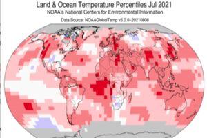 جولای ۲۰۲۱، رکورد گرمترین ماه را در جهان شکست