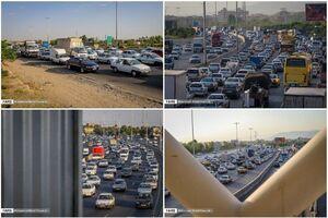 عکس/ ترافیک سنگین عصر امروز در محور تهران - کرج