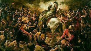 تصویری از حزن امام حسین (ع) بعد از شهادت علمدار کربلا
