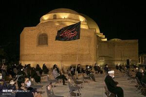 عکس/ مراسم سوگواری در محوطه مسجد کبود تبریز