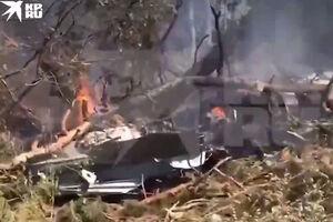 تصاویر نزدیک از محل سقوط هواپیمای نظامی روسیه