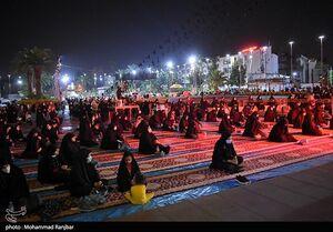 عکس/ شب تاسوعا در میدان شهدای ذهاب رشت