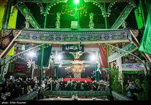 عکس/ حال و هوای تاسوعا در تکیه بزرگ تجریش