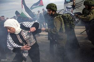 یورش صهیونیستها به راهپیمایی فلسطینیان