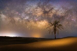 عکی/ کهکشان راه شیری بر فراز ساحل زیبای درک